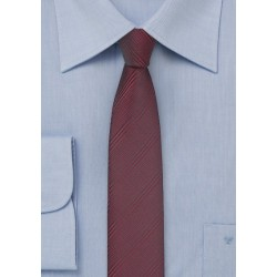 Super Skinny Tie in Cordovan Red