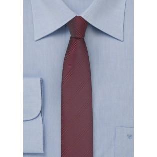 Super Skinny Tie in Cordovan Red