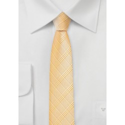 Trendy Skinny Tie in Golden Peach