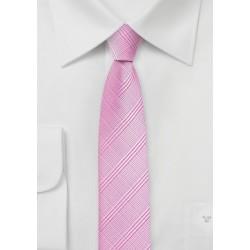 Bright Pink Skinny Tie