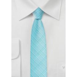 Skinny Mens Tie in Radiant Blue