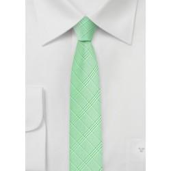 Skinny Tie in Pastel Green