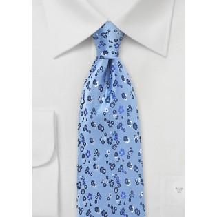 Light Blue Floral Designer Tie