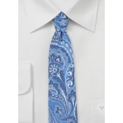 Loud Paisley Tie in Light Blue