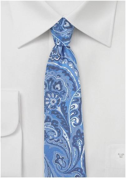 Loud Paisley Tie in Light Blue