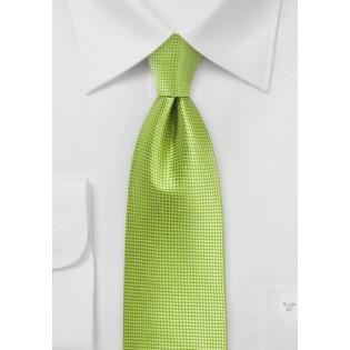 Palm Green Textured Necktie