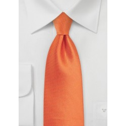 Textured Necktie in Carrot Orange