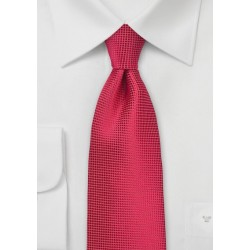 Solid Necktie in True Red
