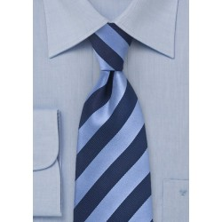 Classic Blue Striped Kids Tie