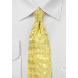 Vibrant Yellow Tie in Kids Size