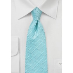 Extra Long Necktie in Radiant Blue