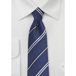 Repp Stripe Designer Tie in Deep Blue