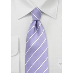 Striped Tie in Bougainvillea