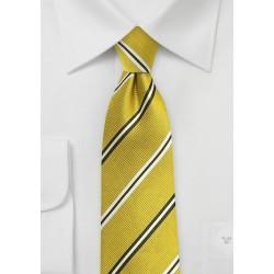 Trendy Repp Tie in Citrine Yellow