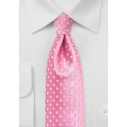 Flamingo Pink Polka Dot Tie