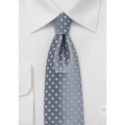 Gray and Silver Polka Dot Tie