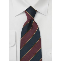 Kids Repp Tie in Burgundy and Navy