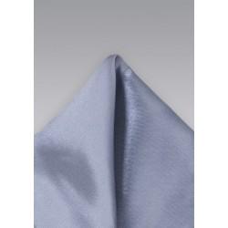 Solid Satin Pocket Square in Gray
