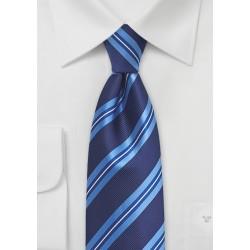 Blue Striped Tie for Men
