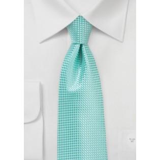 Textured Kids Neck Tie in Beach Glass Green