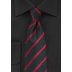 Black and Red Repp Tie in XL