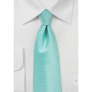 Extra Long Length Tie in Beach Glass Green