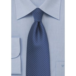 Dark Blue Pencil Stripe Necktie