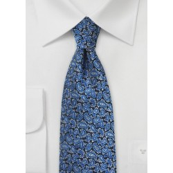 Bright Blue Silk Paisley Tie