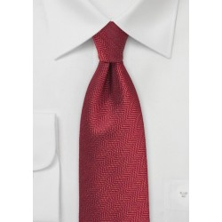Herringbone Tie in Henna Red