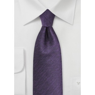 Herringbone Tie in Nightshade Purple