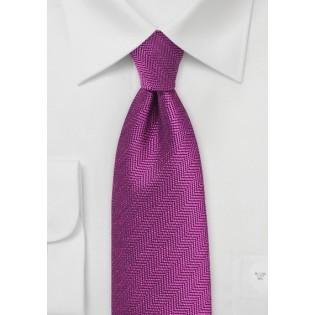 Boysenberry Purple Tie with Herringbone Weave