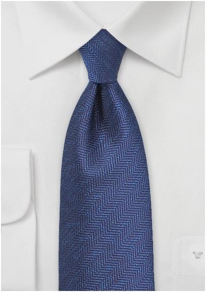 Herringbone Tie in Royal Blue