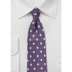 Grape and Lavender Polka Dot Tie