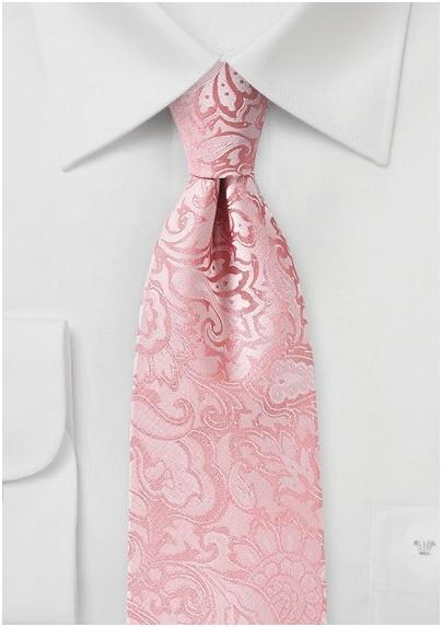 Tulip Pink Paisley Tielip Pink Paisley Tie