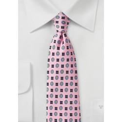Pink Foulard Silk Tie