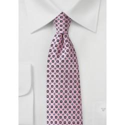 Pink Foulard Designer Tie