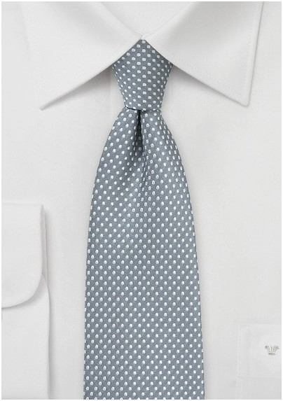 Shadow Gray Pin Dot Skinny Tie
