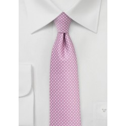 Orchid Pin Dot Tie