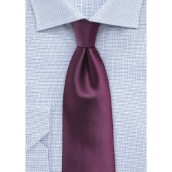 Plum Colored Mens Tie