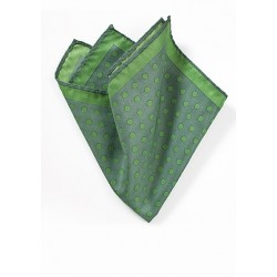 Ivy Green Polka Dot Pocket Square