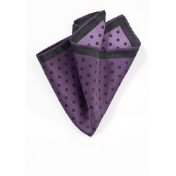 Eggplant and Black Pocket Square