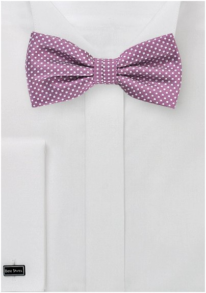 Raspberry Colored Bow Tie