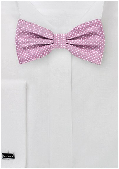 Pin Dot Bow Tie in Orchid