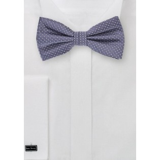 Wisteria Colored Bow Tie with Pin Dots