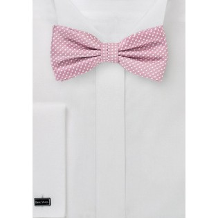 Dusty Rose Pin Dot Bow Tie
