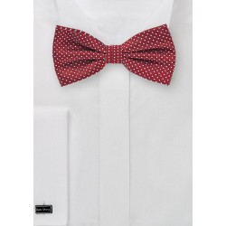 Cherry Pin Dot Bow Tie