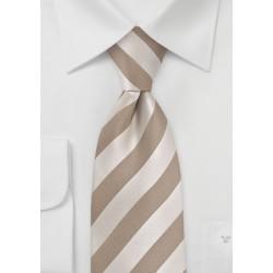 Soft Gold Striped Kids Necktie