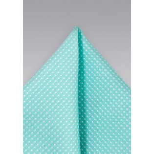 Bright Pool Pocket Square with Tiny Dot