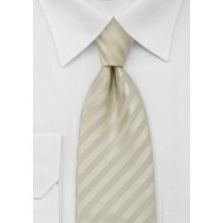 Extra Long Tie in Vanilla-Yellow