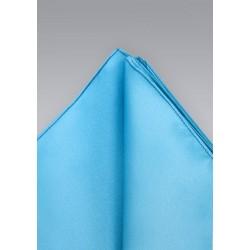 Silk Pocket Square in Malibu Blue